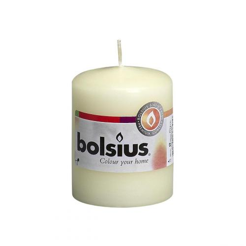 Bolsius pillar candle ivory 60mm diameter 80mm tall