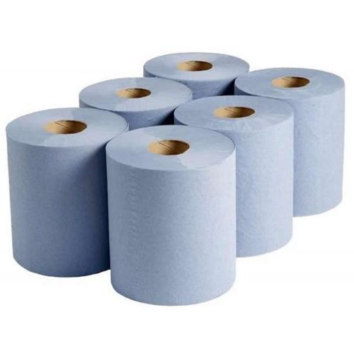 Blue centrefeed roll 2 ply 150 metres