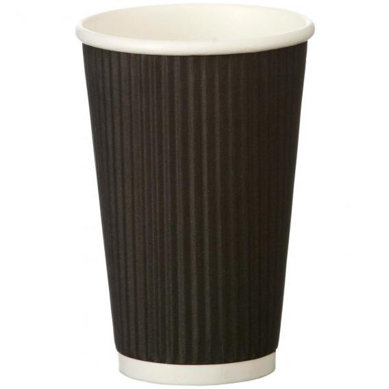 16oz ripple cup black