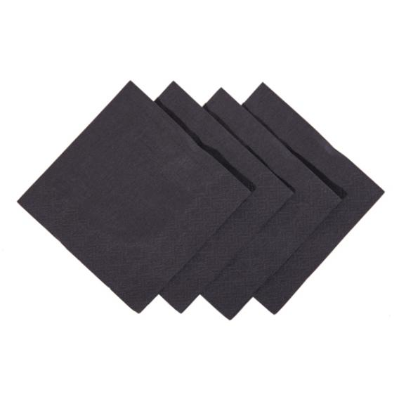 Black cocktail napkin 24cm square 2 ply