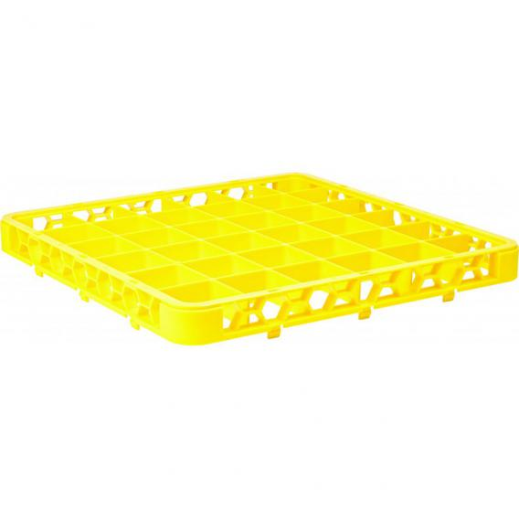 36 compartment polypropylene rack extender yellow 50x50x4 5cm