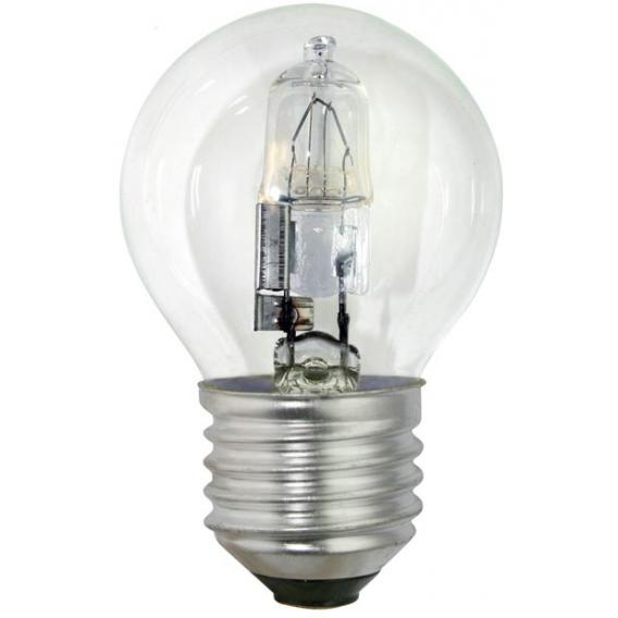 Clear eco halogen energy saver golfball lamp 18w es