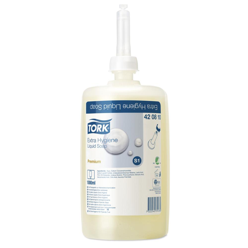 Tork Extra Hygiene Liquid Soap 1l Refill Cartridge