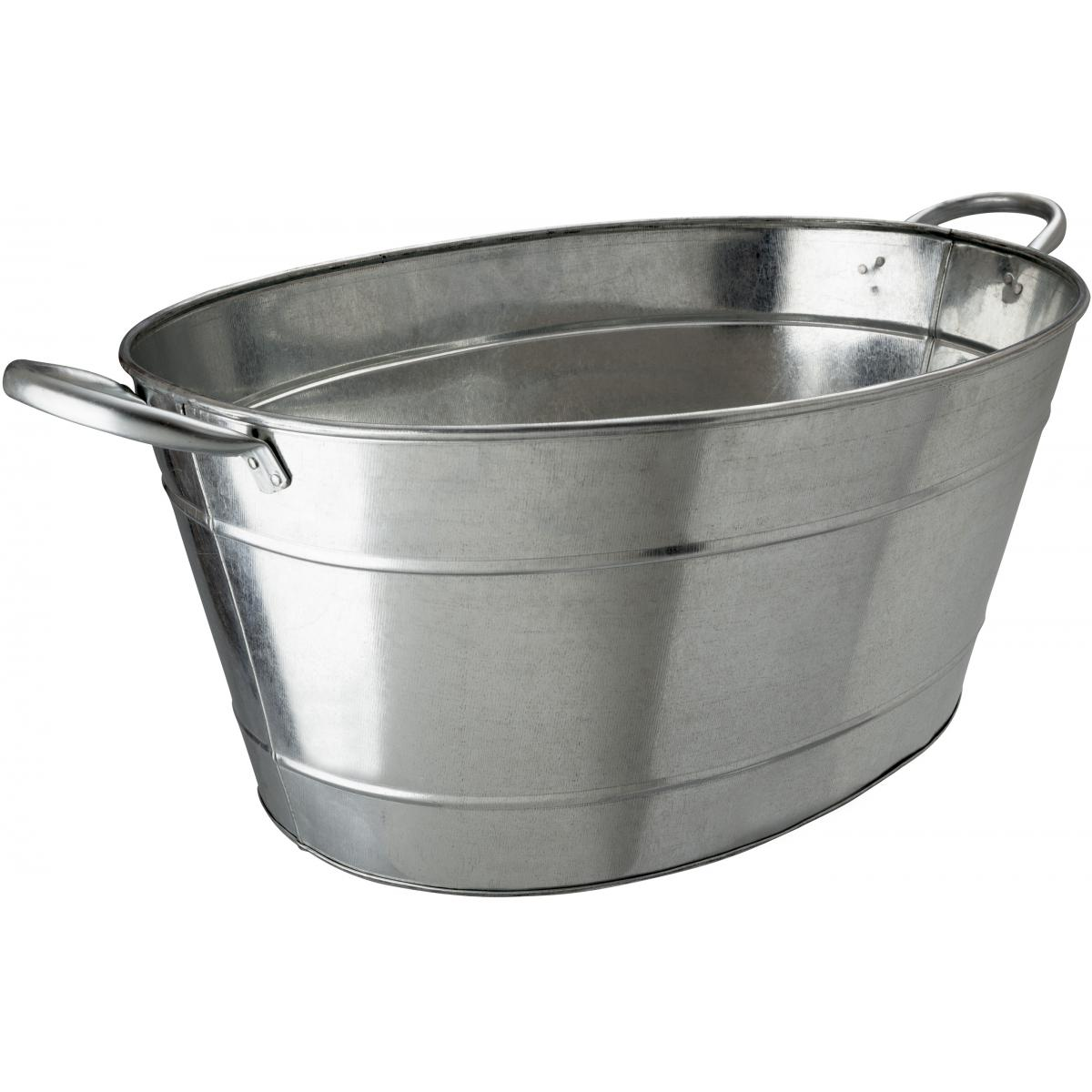 Galvanized steel oval beverage tub noble express for Oval tub sizes