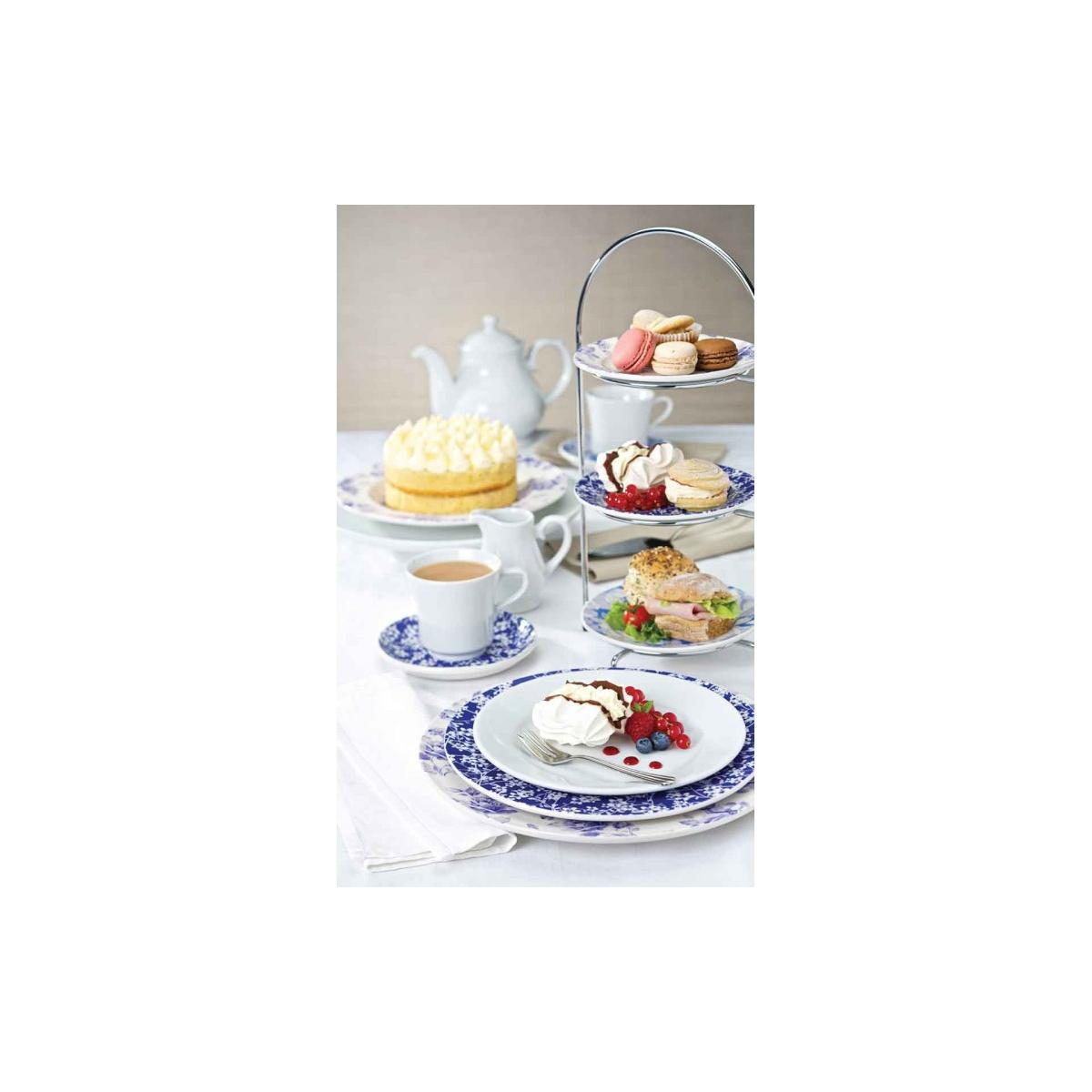 Chrome 3 Tier 25cm 10 Quot Dia Plate Cake Stand Noble