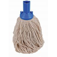 Exel push fit mopping system blue round twine mop head no 14