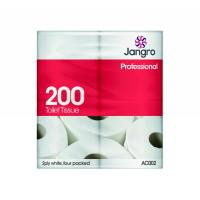 Jangro traditional toilet roll 200 2 ply sheets