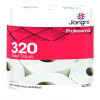 Jangro traditional toilet roll 320 2 ply