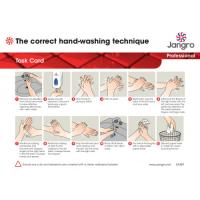 Jangro guide to hand washing task card a4