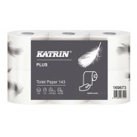 Katrin plus conventional toilet roll 143 sheet 3ply embossed white