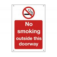 No smoking outside this entrance sign 6x8