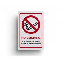 Self adhesive no smoking sign