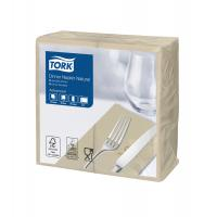 Tork environmental print dinner napkin natural 39cm 8 fold 2 ply