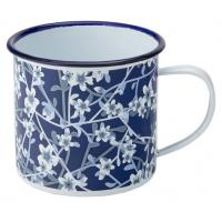 Eagle enamel heritage mug blue white flowers 38cl 13 5oz 8cm 3