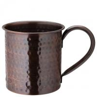 Aged copper hammered mug 19oz 54cl