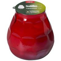 Bolsius twilight glass candle red