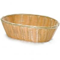 Handwoven oval basket natural 26x16 5x7 5cm