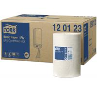 Tork mini basic paper centrefeed roll 1ply white