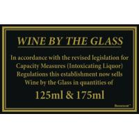 125ml 175ml wine law sign 170x110mm