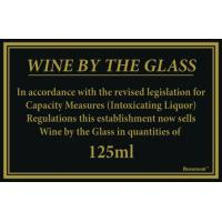 125ml wine law sign 170x110mm