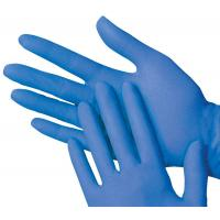 Blue latex household gloves large