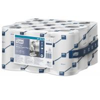 Tork reflex wiping paper mini centrefeed roll 2 ply white