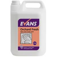 Evans orchard fresh hand hair body wash liquid soap 5l