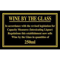 Wine by the glass 250ml 4 3x7