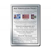 Under 25 age verification policy brushed metal sign