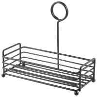 Black wire table caddy