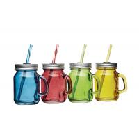 Coloured glass drink jars 4oz 6 sets of 4