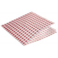 Greaseproof paper bags red gingham print 17 5 x 17 5cm