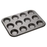 Masterclass non stick twelve hole shallow baking pan 32x24cm sleeved