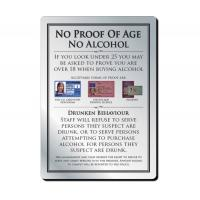 No proof of age no alcohol notice silver 210 x 297mm