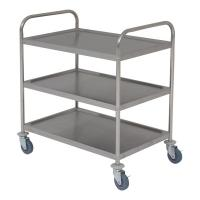 Stainless steel trolley 85 5l x 53 5w x 93 3h 3 shelves