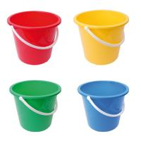 10 litre plastic bucket red
