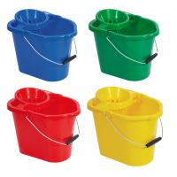 Rectangular bucket wringer 12 litre yellow