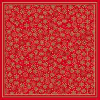 Red and gold printed napkin 33cm 3 ply