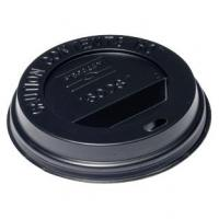 Black domed sip thru lid 10oz