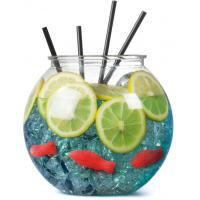 Plastic cocktail fish bowl 100oz 2 9l