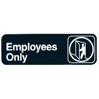 Employees only sign self adhesive
