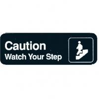 Caution watch your step sign self adhesive