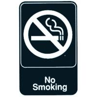 No smoking self adhesive sign