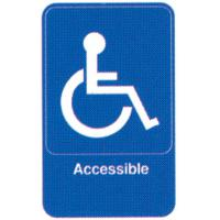 Accessible self adhesive sign
