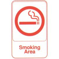 Smoking area self adhesive sign