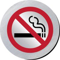 No smoking silver metallic door disc 3