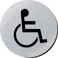 Disabled silver metallic door disc 3