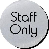 Staff only silver metallic door disc 3