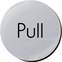 Pull silver metallic door disc 3