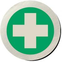 First aid silver metallic door disc 3